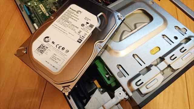ハードディスクの故障画像
