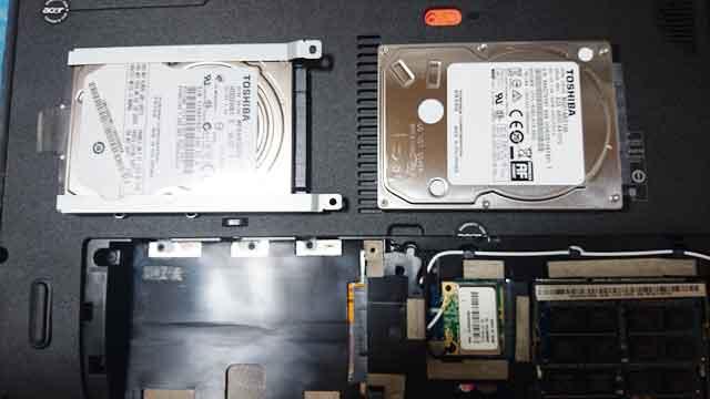 ハードディスクの交換画像