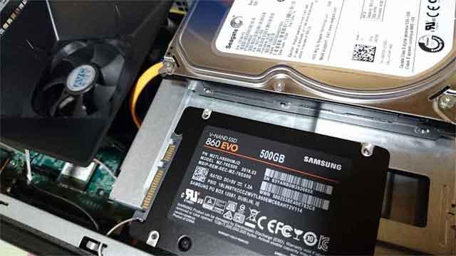 福岡市東区香椎 デスクトップパソコン修理 HDD交換 SSD換装